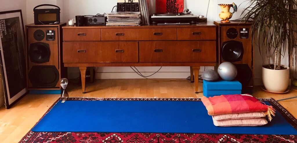 Yoga mat at home